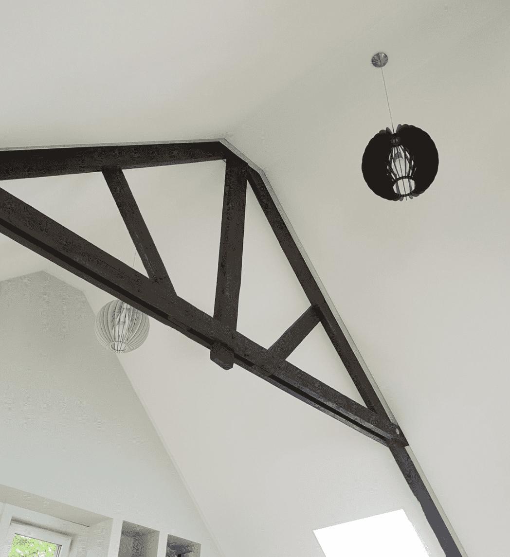 Plaatsen van spanplafonds in dakconstructie