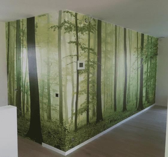 Printwand met binnendeur geïntegreerd in het beeld